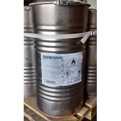 Calcium carbid drum 100 kg (50/80 mm)